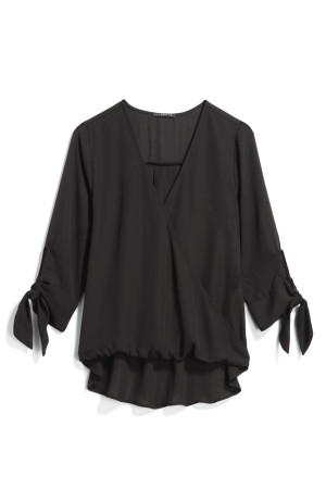 WEST KEI - Allan Tie Sleeve High Low Blouse