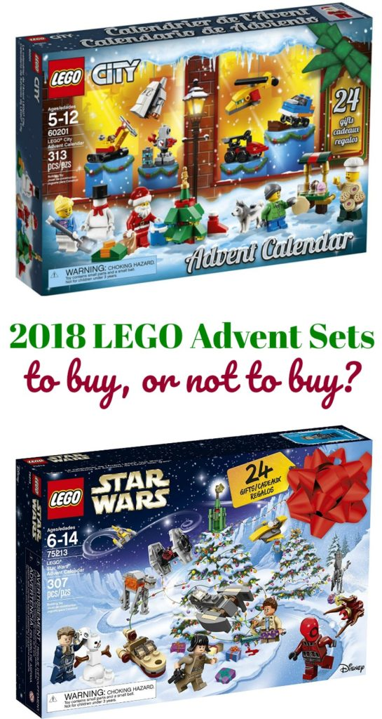 The 2018 LEGO Advent Calendars are available and we loved last year's so much that we're getting two again this year! Get them at lower prices while you can. #lego #advent #christmas