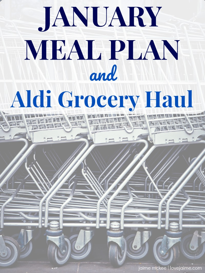 My early January meal plan and a look at my Aldi grocery haul! #mealplanning #budgeting