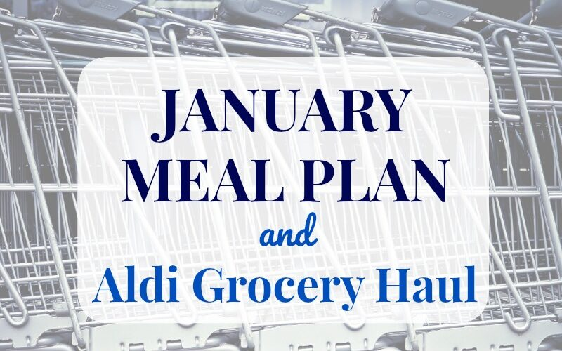 January meals, Aldi grocery haul, and reusable produce bags!