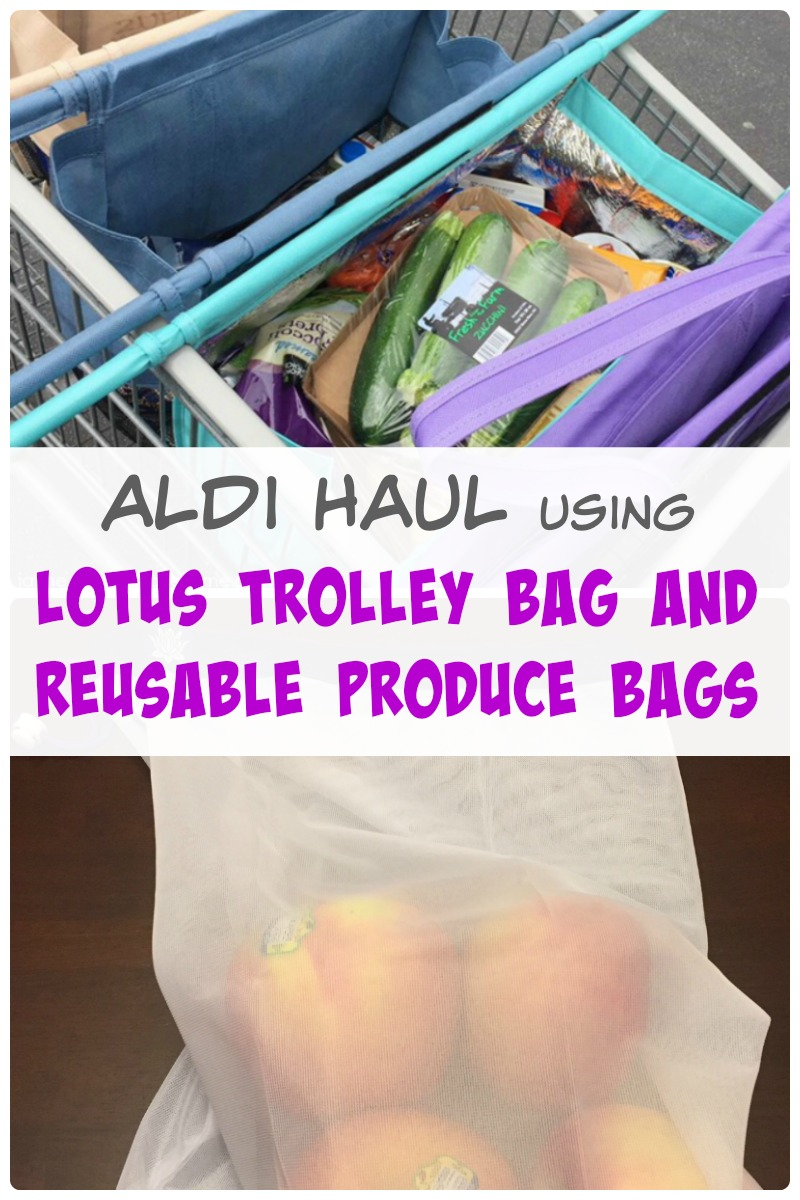 An Aldi haul and review of Lotus Trolley Bag and reusable Produce Bags!