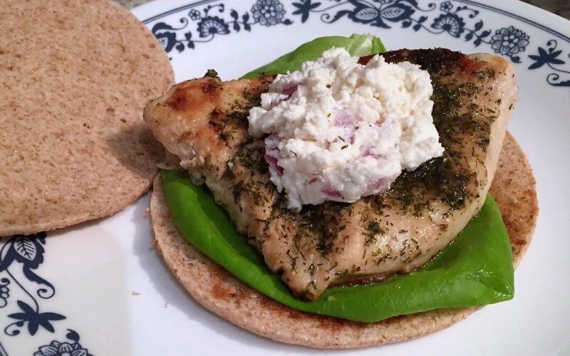 Weight Watchers-friendly Greek Chicken Sandwiches