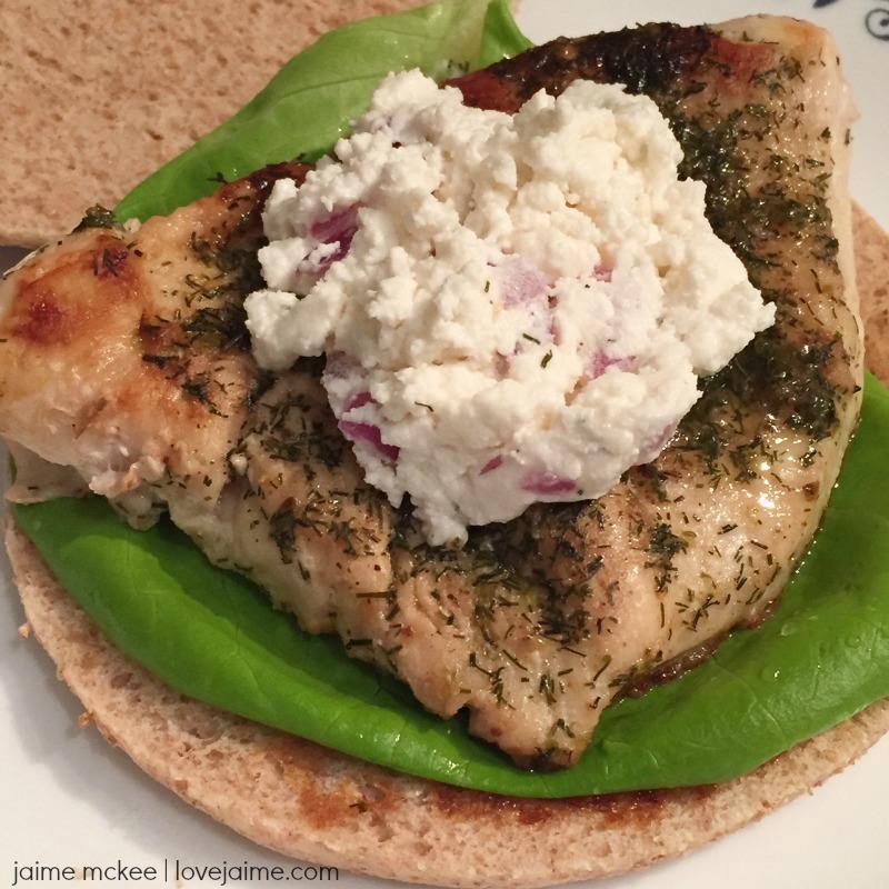 Healthier Greek Chicken Sandwich