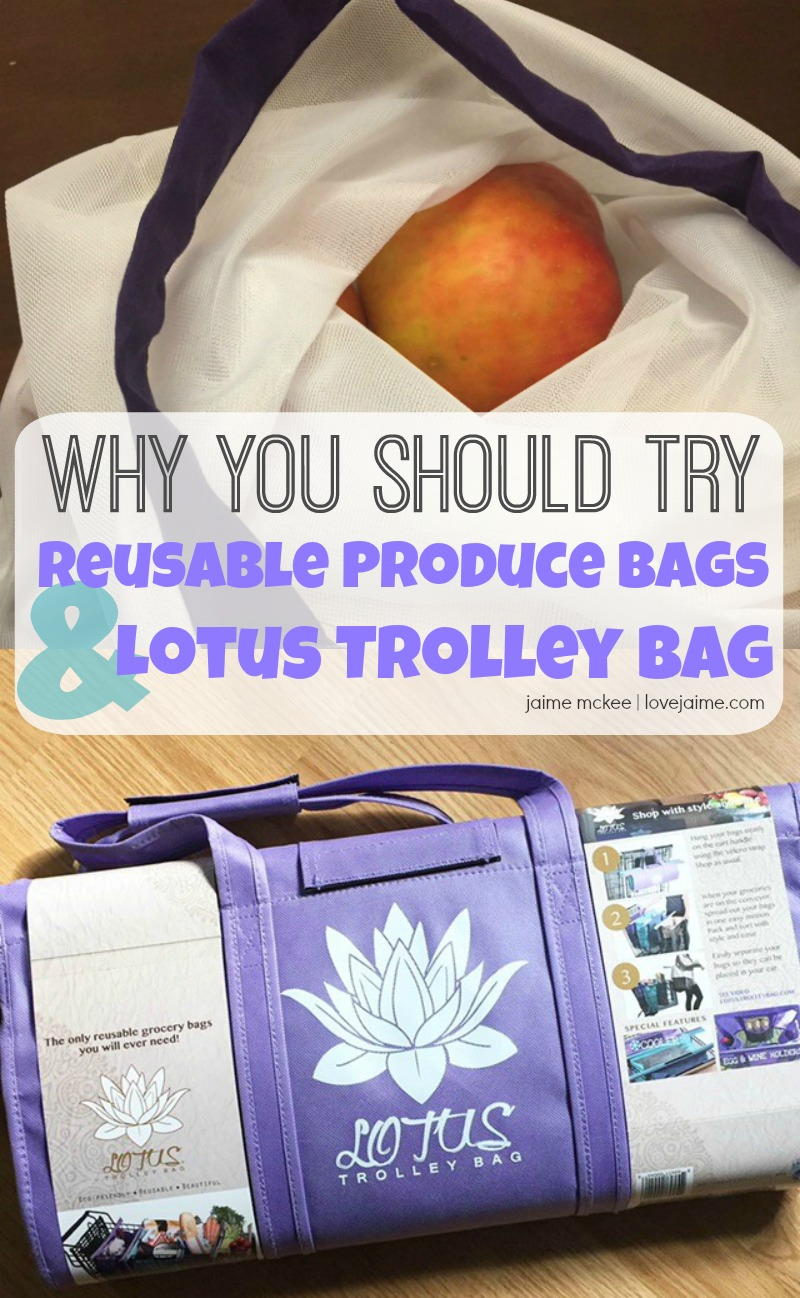 Why you should try reusable produce bags and the Lotus Trolley Bag! #lotustrolleybag #reusable #producebags