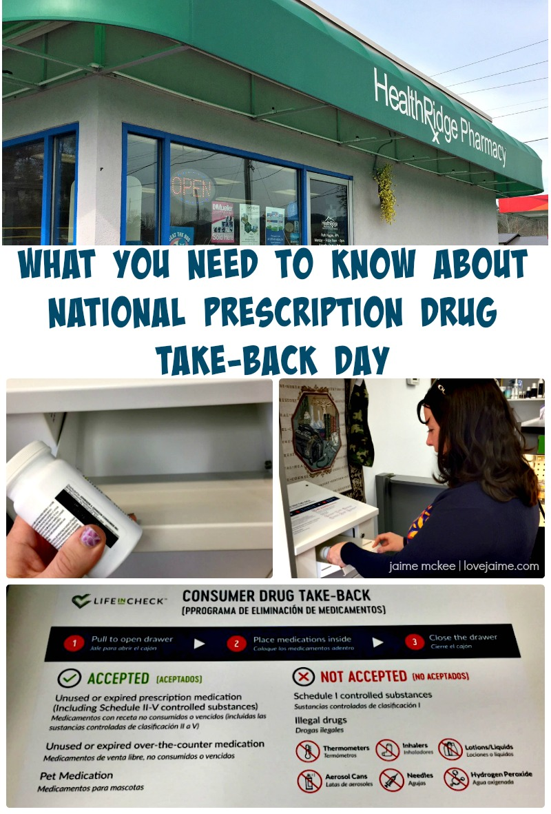 What you need to know about National Prescription Drug Take-Back Day. #LifeInCheck #ConsumerDrugTakeBack #ad