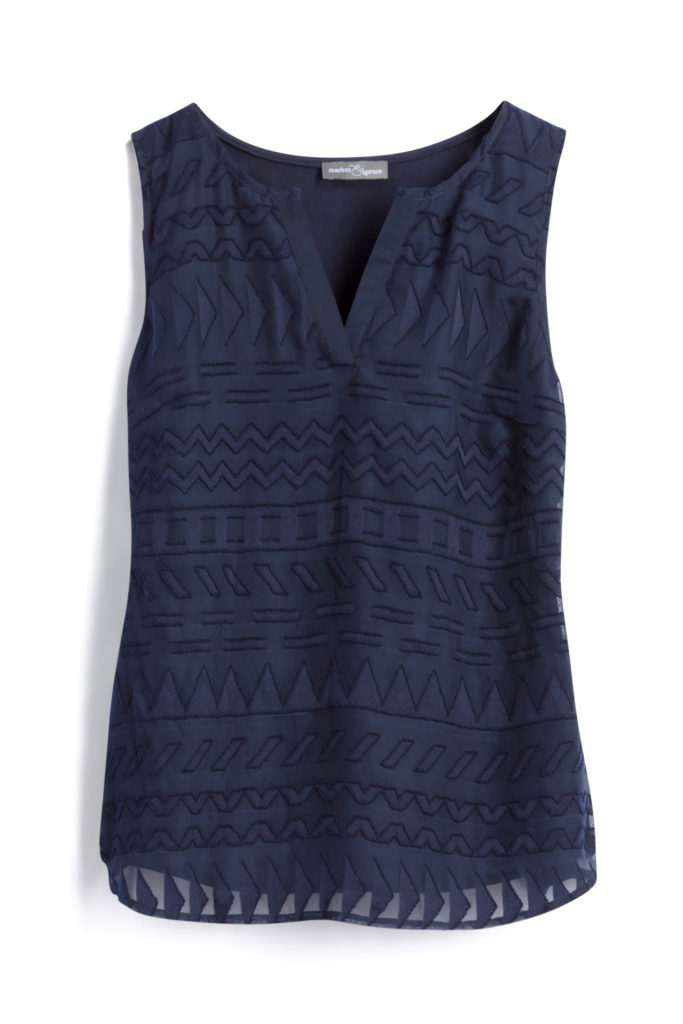 Stitch Fix Market & Spruce  Ezide Textured Print Top