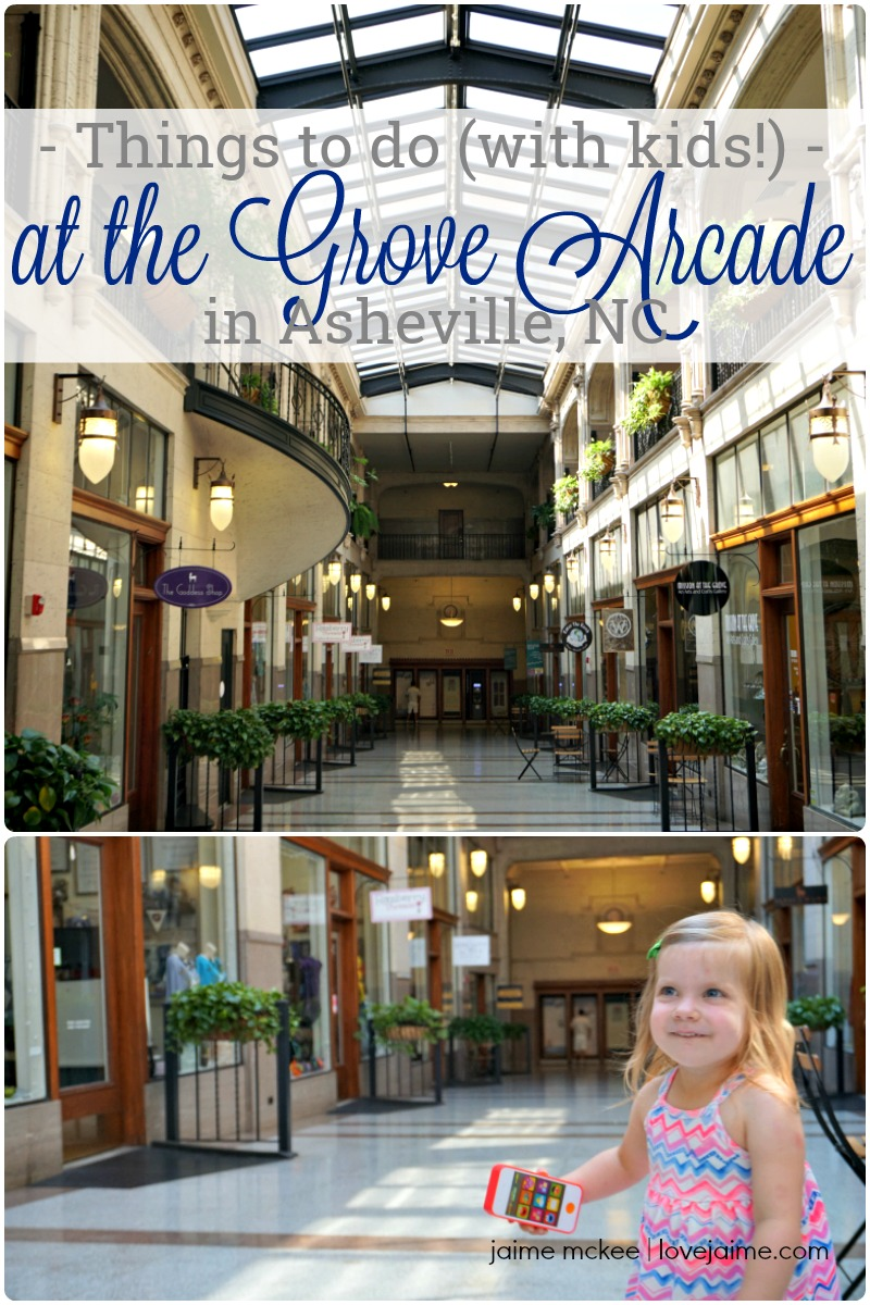 One of my favorite places in Asheville to spend time is the Grove Arcade - check out several things you can do with kids when visiting! #travel #visitNC #Asheville
