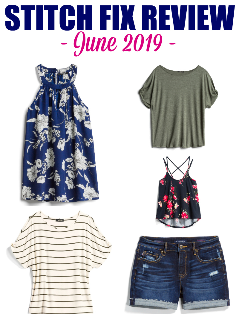 My June 2019 Stitch Fix Review! I challenged my stylist to keep it under $200 BEFORE the discount, and I show you how she did! #stitchfix #fashion