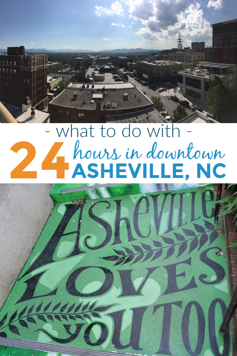 A few things you can do if you have 24 hours to spend in downtown Asheville, NC. #travel #visitAsheville #Asheville