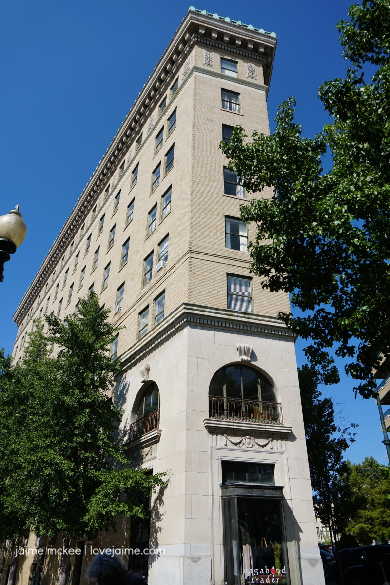 Flat Iron Building in downtown Asheville