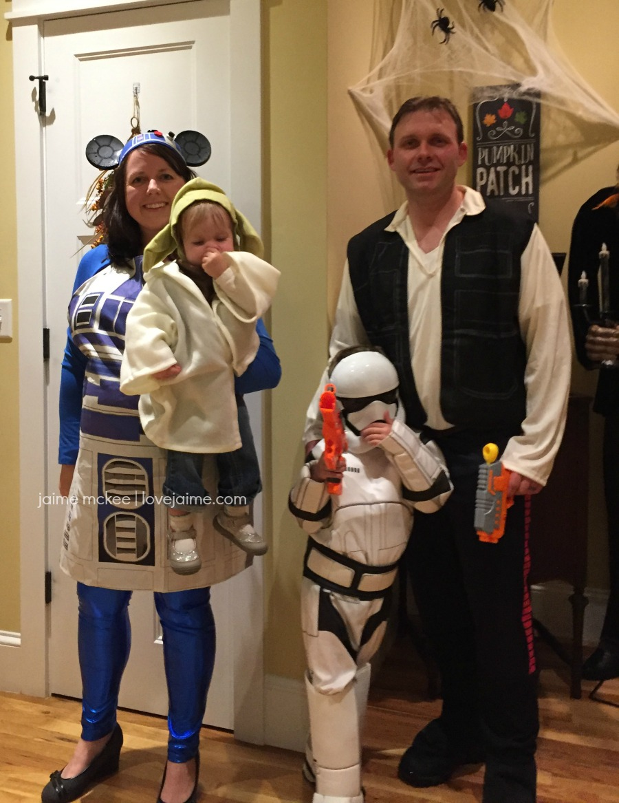 Star Wars is just one of the few family Halloween costume ideas we worked with one year!