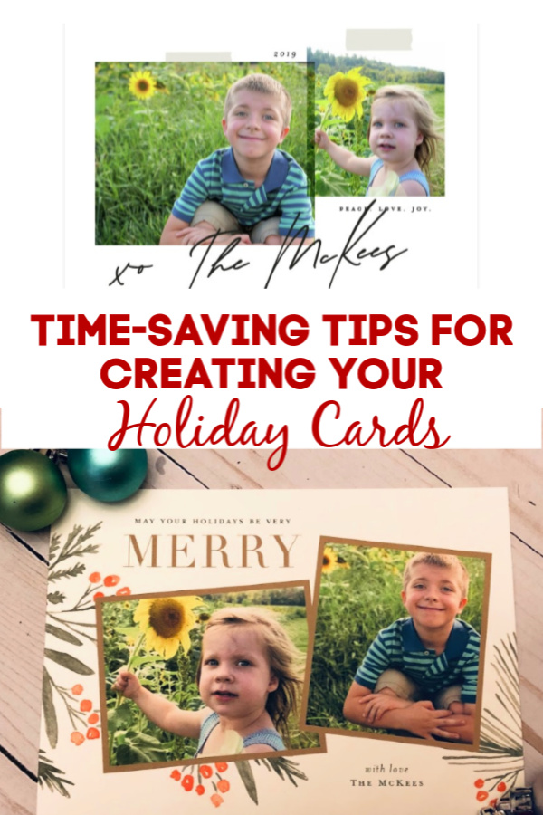 Time Saving Tips for Creating Holiday Cards with Minted! #affiliate #minted #cards #holidays #timesaving #tips