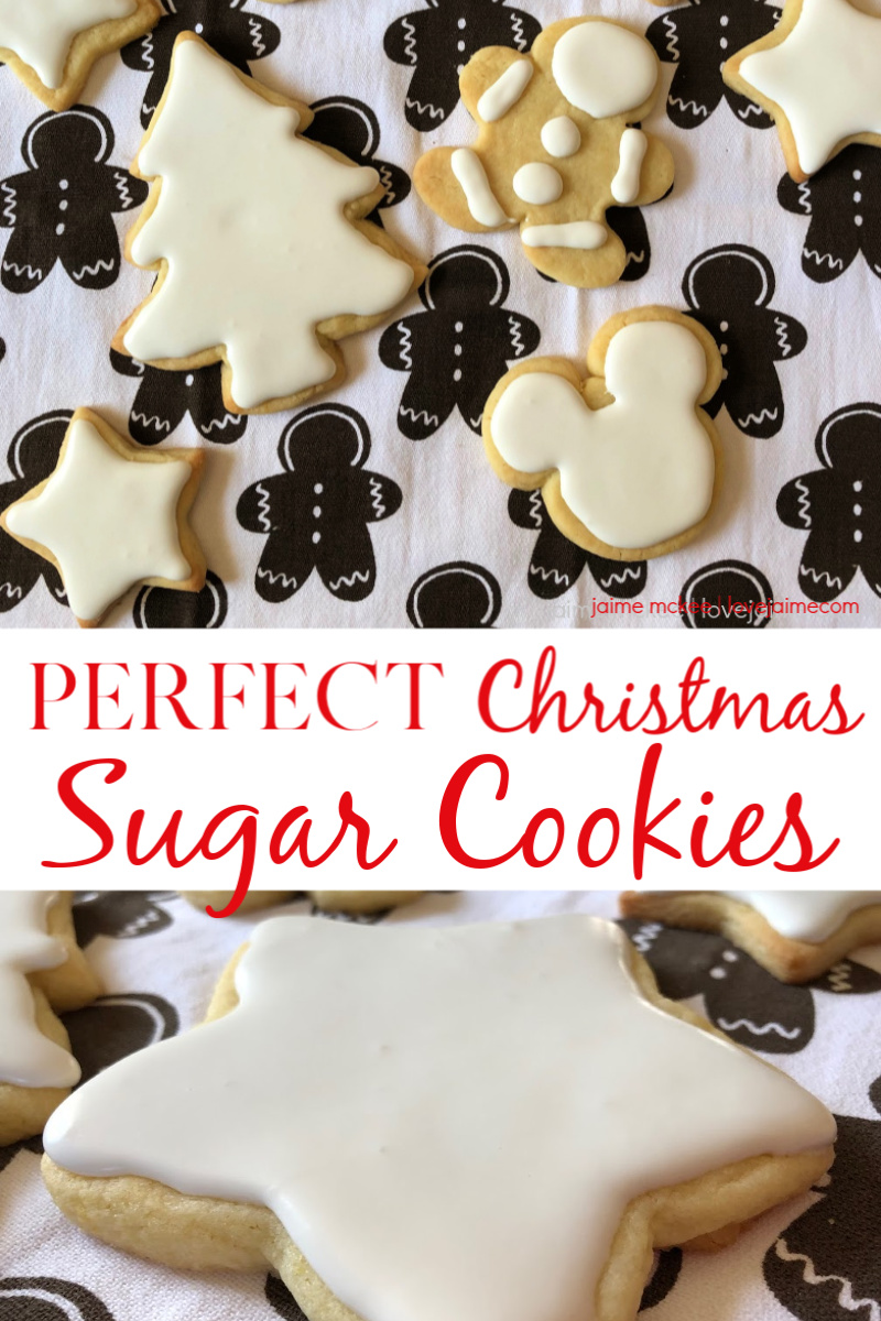 These Perfect Christmas Sugar Cookies are one of my favorite cookies to make every year. The cookie recipe is my go-to for holidays (and birthdays!) and the icing is so easy. #HousefulOfCookies #recipe #cookies #Christmas #holidays