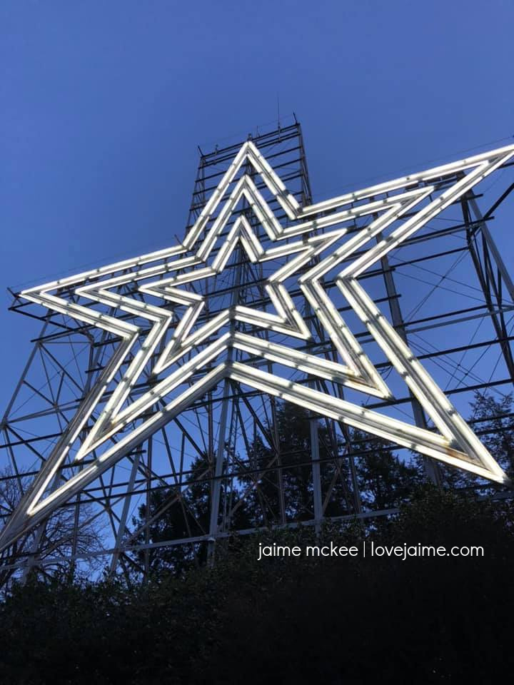 Roanoke Star (lit up!)