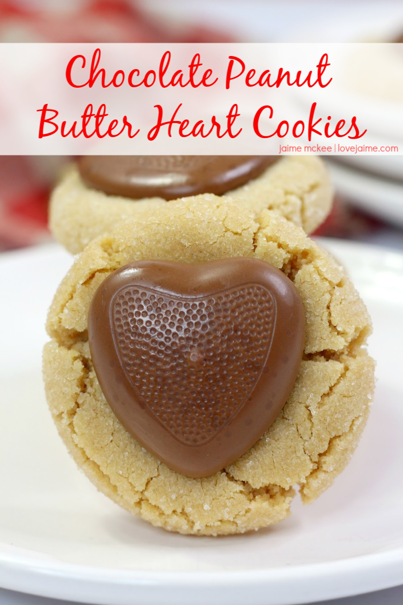 Chocolate Peanut Butter Heart Cookies Recipe for Valentine's Day!