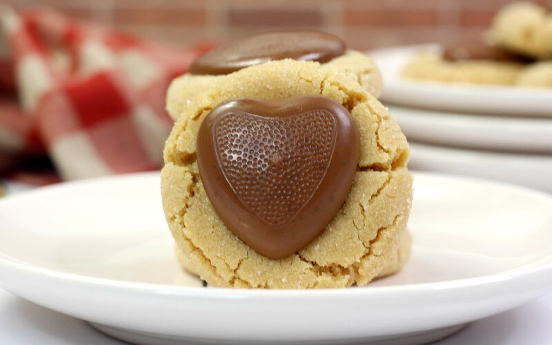 {Recipe} Chocolate Peanut Butter Heart Cookies