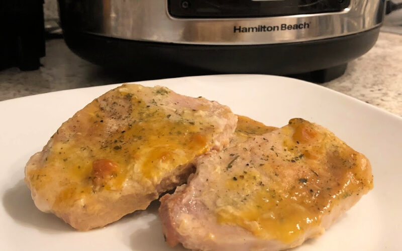 Ranch Pork Chops in the Crock-Pot {Recipe}