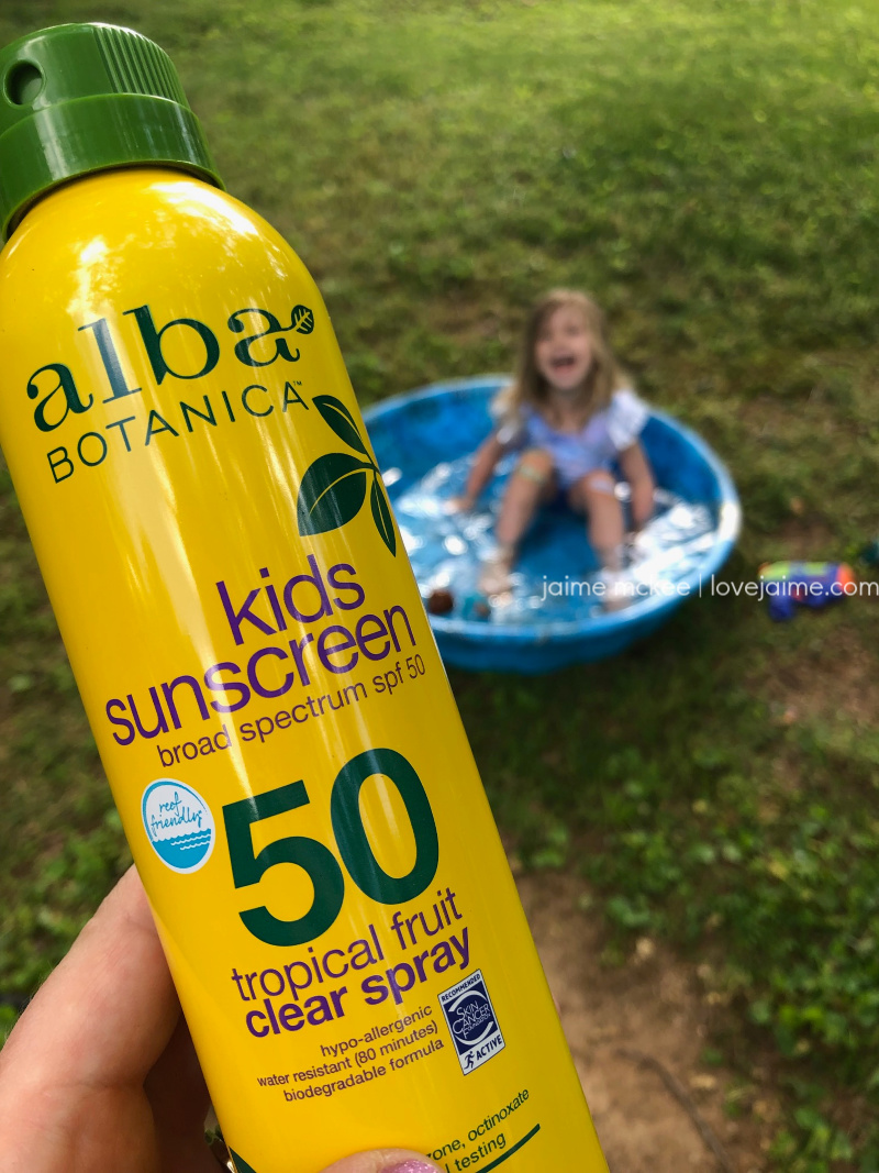 Alba Botanica is an organic sunscreen that is safe for kids and the entire family!