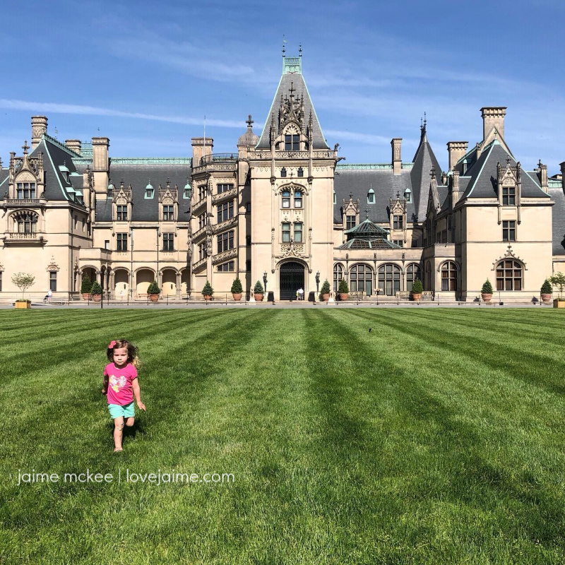 An empty Biltmore Estate during the spring of 2020