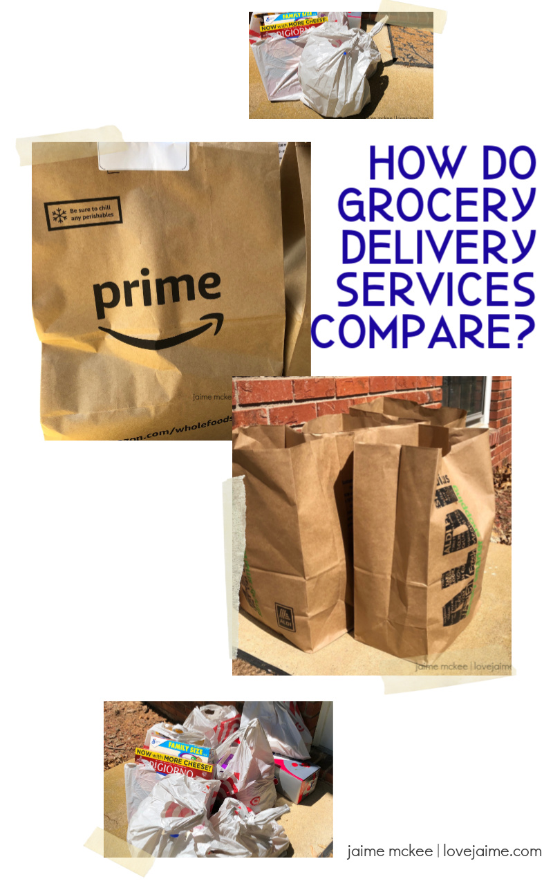 Comparing three grocery delivery services and what worked for us during quarantine.