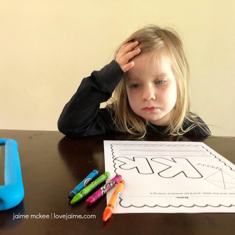 Exhausted Preschooler