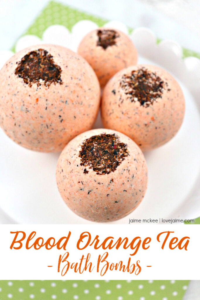 Blood Orange Tea Bath Bombs