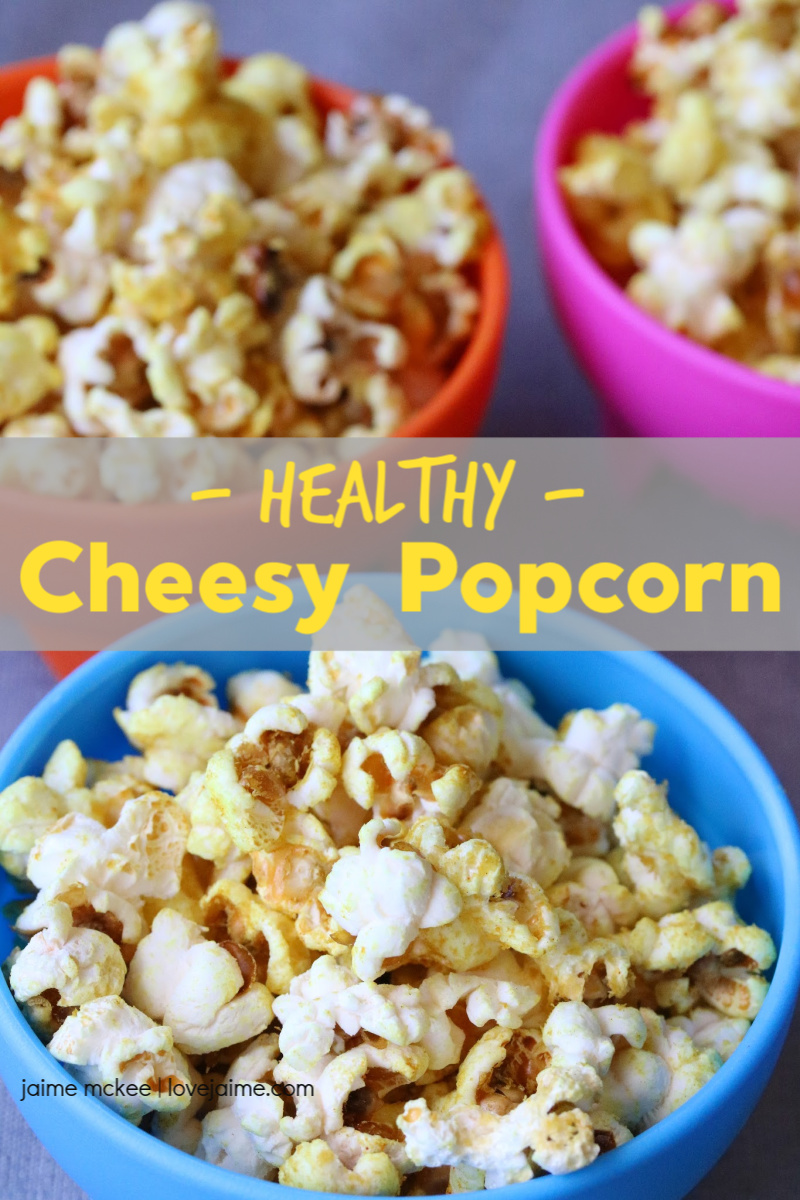 Healthy Cheesy Popcorn