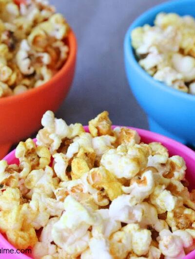 Healthy Cheesy Popcorn