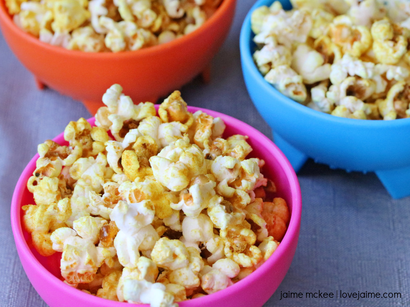This healthy cheesy popcorn recipe can be made with a number of spices!