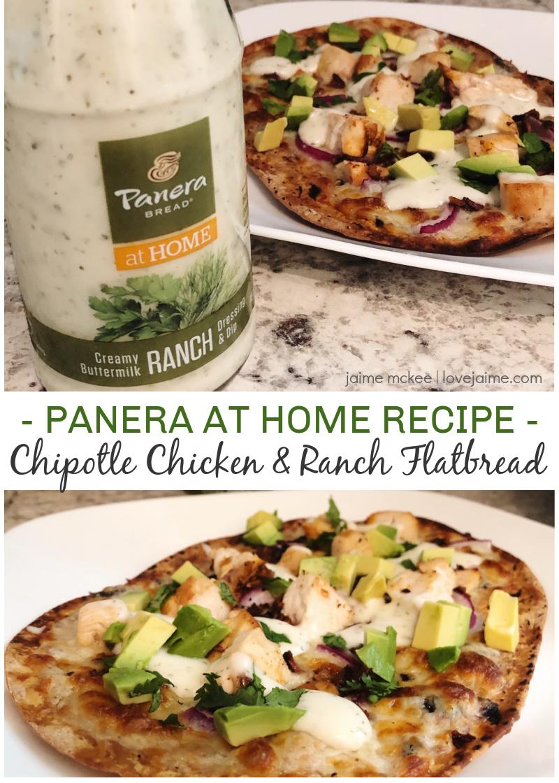 Panera at Home: Chipotle Chicken and Ranch Flatbread recipe #ad