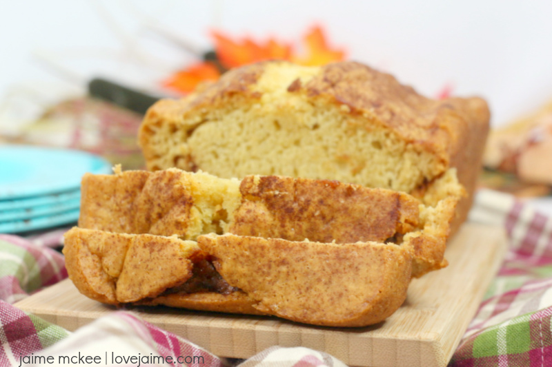 This Cinnamon Swirl Beer Bread recipe is just four ingredients! Such a simple bread recipe to make.
