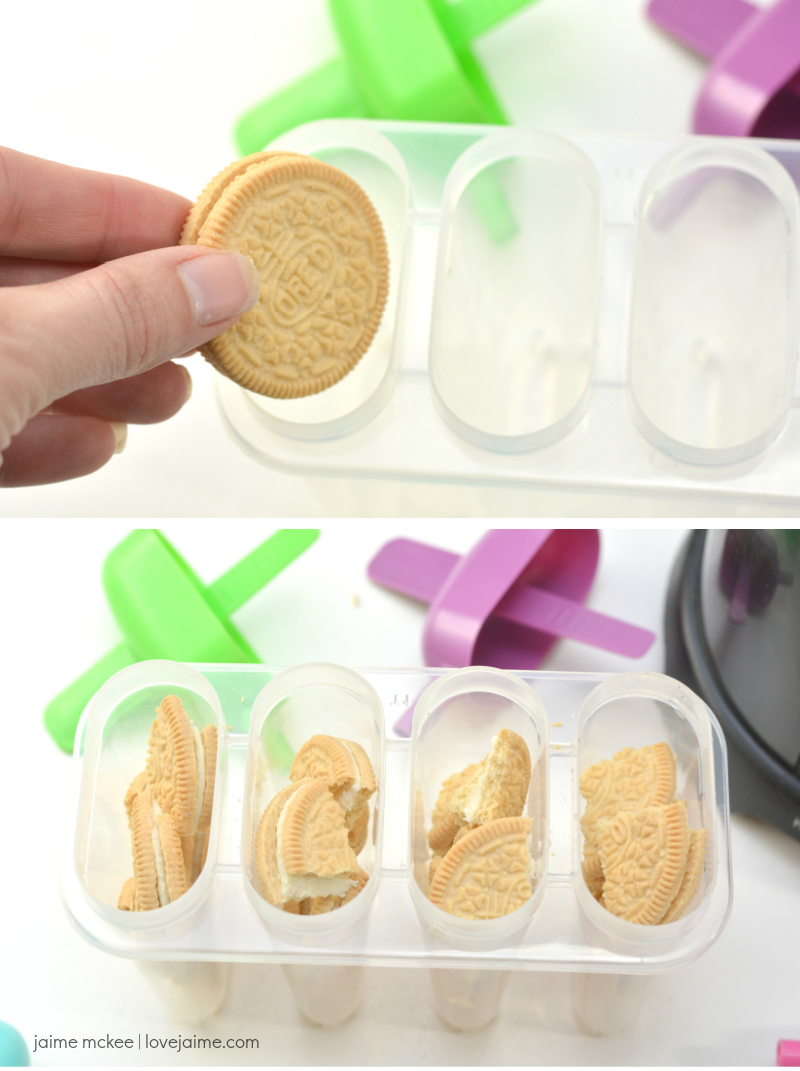 Milk and Cookies Popsicles Tutorial