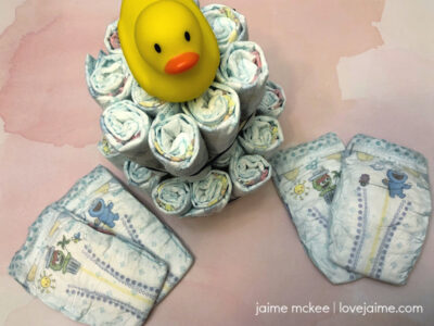 How to make a diaper cake - and stay under budget!