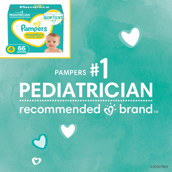 Pampers is the #1 Pediatrician Recommended Brand