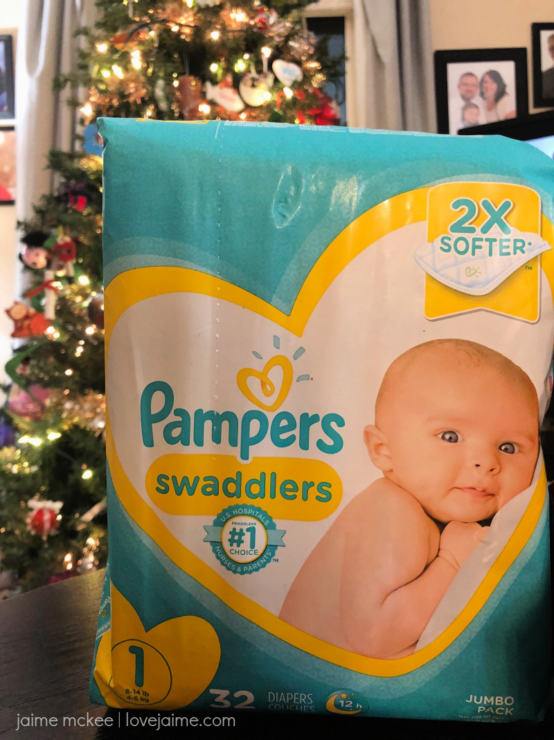 Stocking up on Pampers products, giving back this season and earning gift cards in the process!