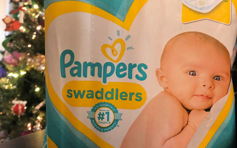 Stocking up on Pampers to give back this season