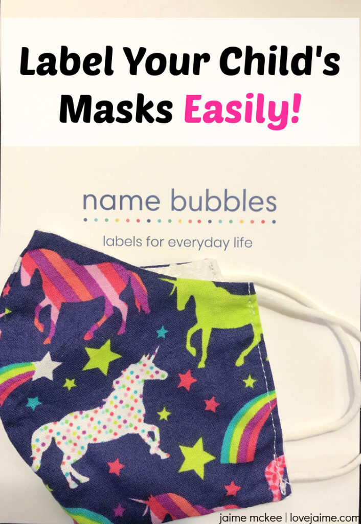 Labels for masks are easy with Name Bubbles! Save 20% off (link in my post)