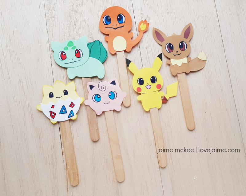 These paper Pokemon puppets are sure to be a fun craft for the Pokemon fan in your home!