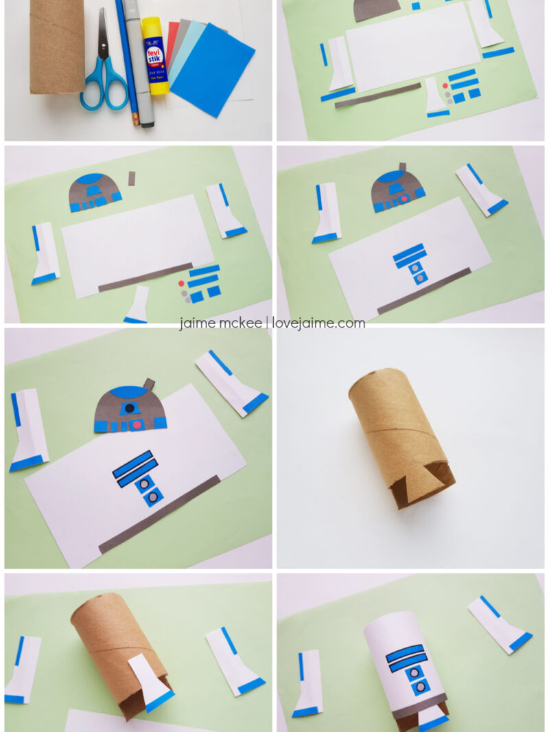 Step by step R2D2 paper craft