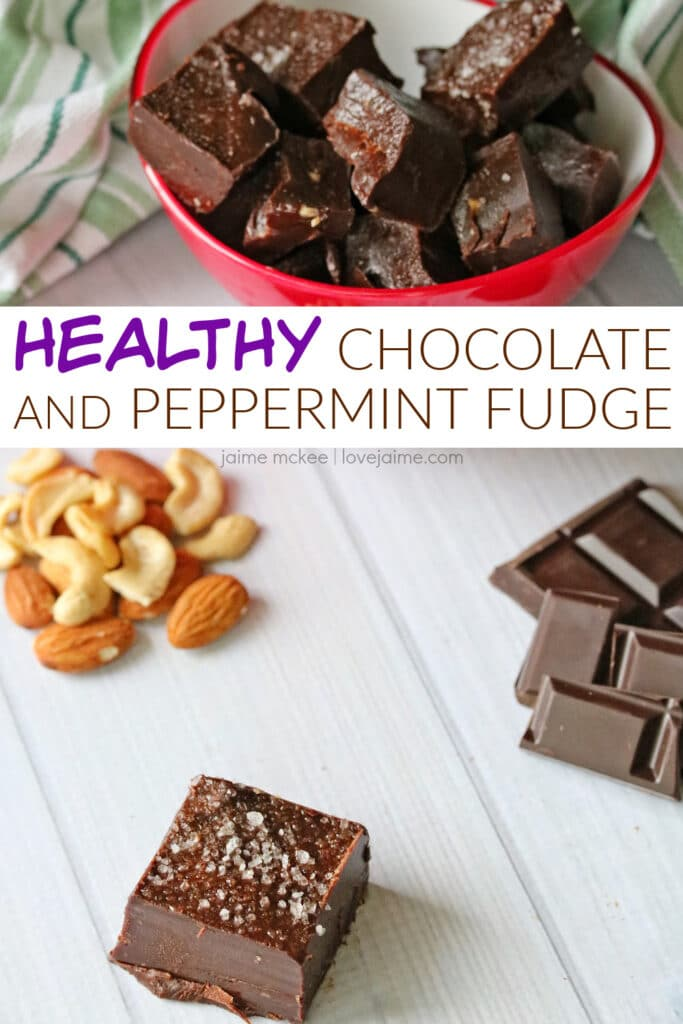 Try this healthier-for-you chocolate peppermint fudge recipe using cashew and almond butters!